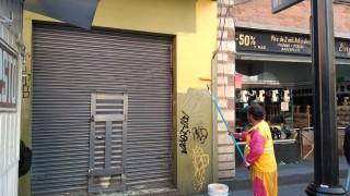 Retira ACH grafiti en 3 mil 276 m2 del Centro Histórico