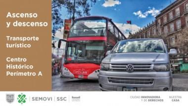 Ascenso y descenso de transporte turístico
